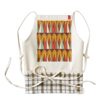 Colorful pattern zazzle HEART apron