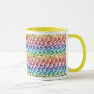 Colorful patterned coffee mug