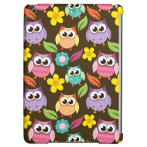 Colorful Patterned Owls and Flowers Case For iPad Air