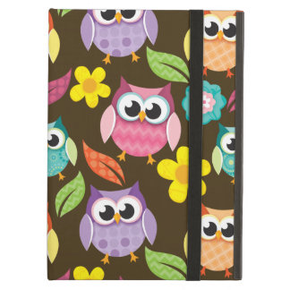 Colorful Patterned Owls and Flowers iPad Air Covers