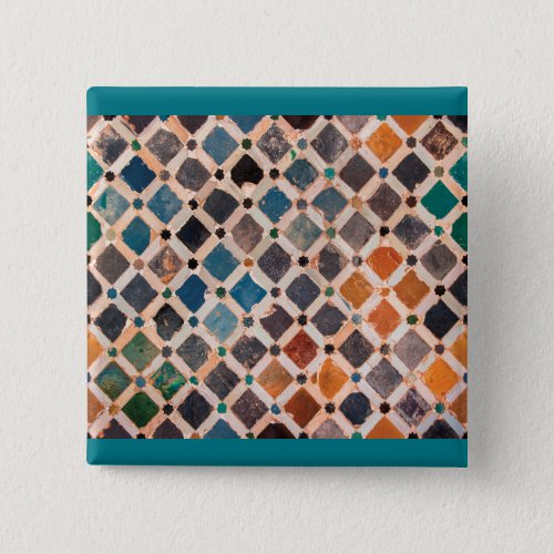 colorful patterned tiles button