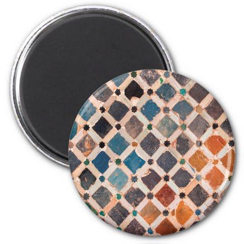 colorful patterned tiles magnet