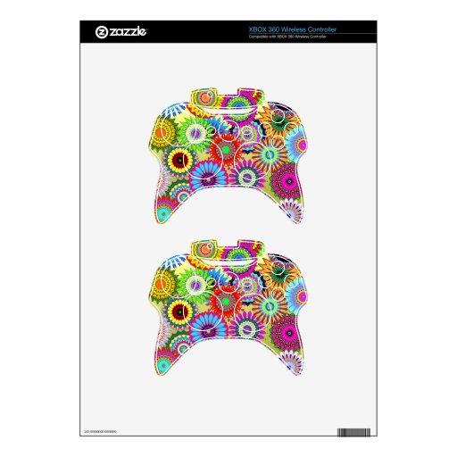 Colorful Patterns Kaleidoscopes Mosaics Xbox 360 Controller Skins