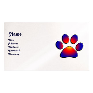 COLORFUL PAW black white pearl Business Card Templates