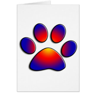 COLORFUL PAW CARD