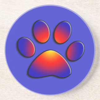 COLORFUL PAW COASTER