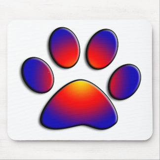 COLORFUL PAW MOUSE PAD