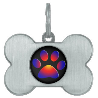 COLORFUL PAW PET ID TAG