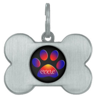 COLORFUL PAW PET NAME TAG