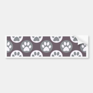 Colorful Paw Print and Polka Dot Pattern Bumper Sticker