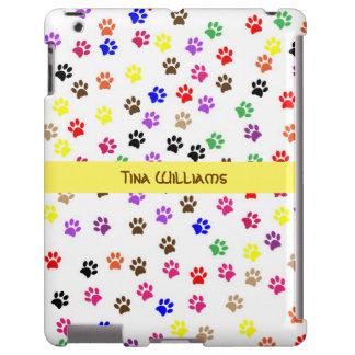 Colorful Paw Print iPad Case