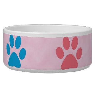 Colorful paw prints bowl