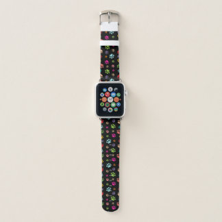 Colorful Paw Prints Design Apple Watch Band