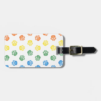 Colorful Paw prints Tags For Bags