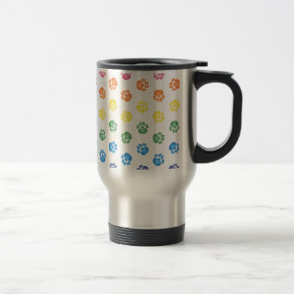 Colorful Paw prints 15 Oz Stainless Steel Travel Mug