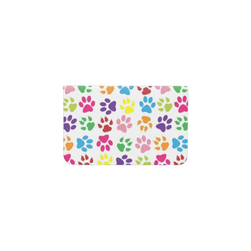 Colorful Paw Prints Pattern Card Holder