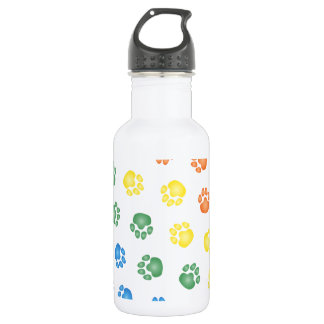 Colorful Paw prints Stainless Steel Water Bottle