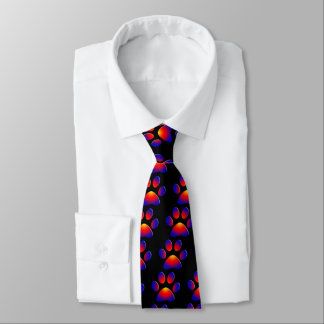 COLORFUL PAW TIE