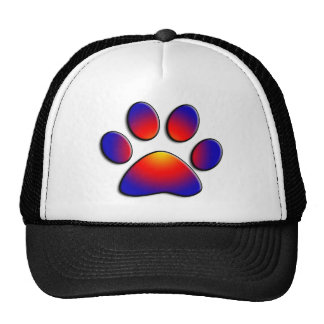 COLORFUL PAW TRUCKER HAT