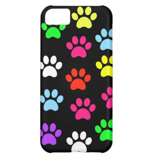 Colorful Pawprints iPhone 5C Cover