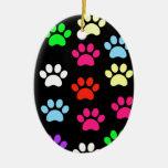Colorful Pawprints Ornament