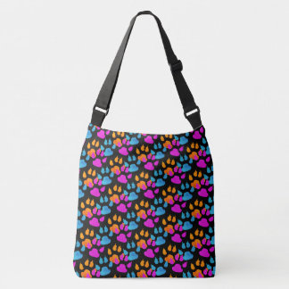 Colorful Paws and Claws Doggie Gear Crossbody Bag