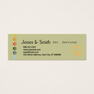 Colorful Paws Mini Business Card