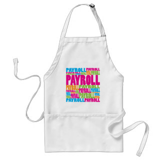 Colorful Payroll Adult Apron