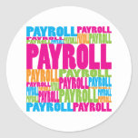 Colorful Payroll Classic Round Sticker