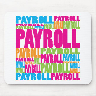 Colorful Payroll Mouse Mats