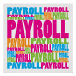 Colorful Payroll Poster