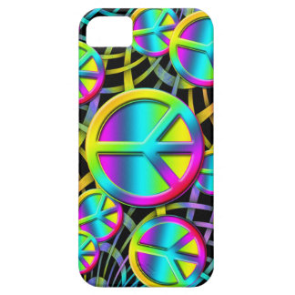 Colorful PEACE - Flower Power Design iPhone 5 Covers