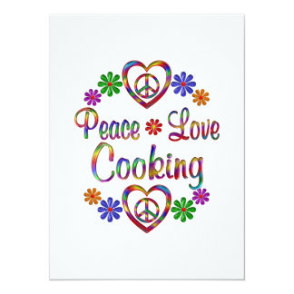 Colorful Peace Love Cooking Custom Announcements