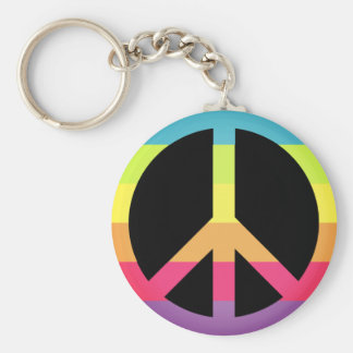 Colorful Peace&Love Keychain