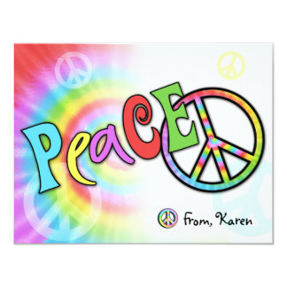 Colorful PEACE Note Card