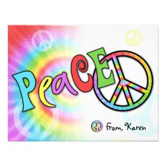 Colorful PEACE Note Card Custom Invites