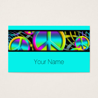 Colorful PEACE pattern - make love not war Business Card