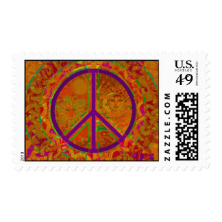 Colorful Peace Postage