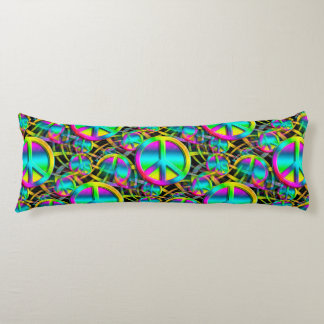 Colorful PEACE seamless pattern + your ideas Body Pillow