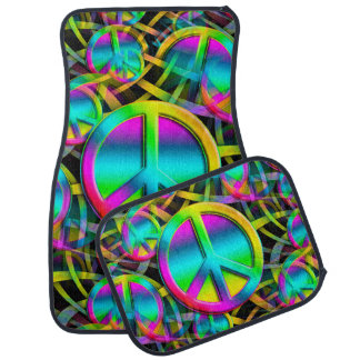 Colorful PEACE seamless pattern + your ideas Car Floor Mat