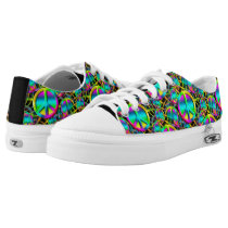 Colorful PEACE seamless pattern   your ideas Low-Top Sneakers