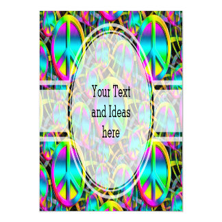 Colorful PEACE seamless pattern + your ideas Magnetic Card