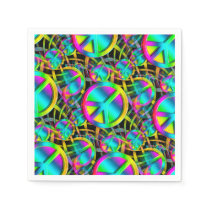 Colorful PEACE seamless pattern   your ideas Napkin