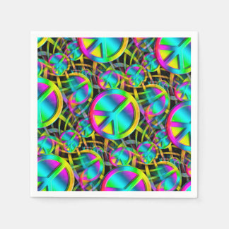 Colorful PEACE seamless pattern + your ideas Napkin