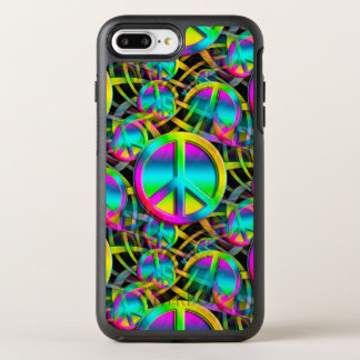 Colorful PEACE seamless pattern + your ideas OtterBox Symmetry iPhone 7 Plus Case