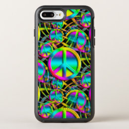 Colorful PEACE seamless pattern + your ideas OtterBox Symmetry iPhone 8 Plus/7 Plus Case