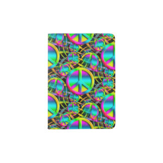 Colorful PEACE seamless pattern + your ideas Passport Holder