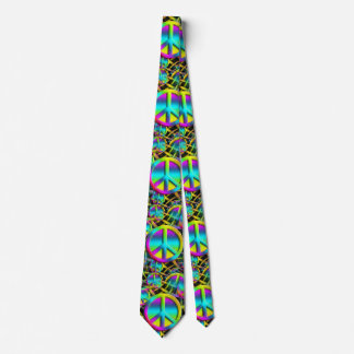 Colorful PEACE seamless pattern + your ideas Tie