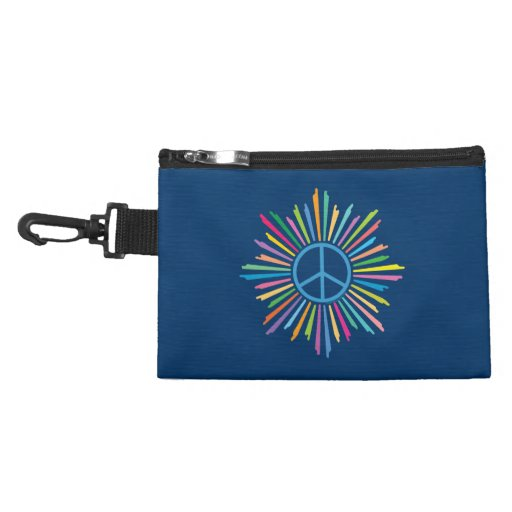 Colorful Peace Sign Accessory Bags
