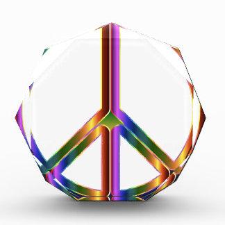 colorful peace sign acrylic award
